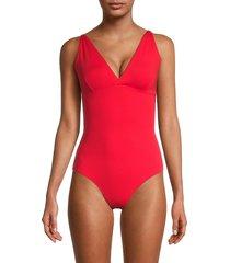 melissa odabash women's madrid one-piece swimsuit - red - size 42 (6)