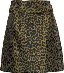 crispy jacquard kort kjol grön ganni