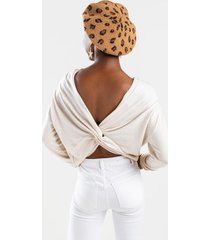 anellah knot back sweater - white