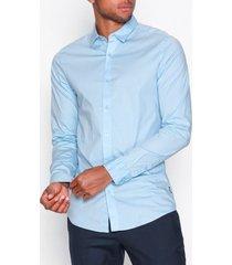 only & sons onsalfredo ls shirt ex-slim noos t-shirts & linnen blå