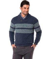 sweater texturado azul arrow
