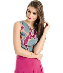 top alphorria a.cult cropped estampado verde