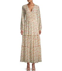 lost + wander women's floral-print maxi dress - ivory floral - size xs