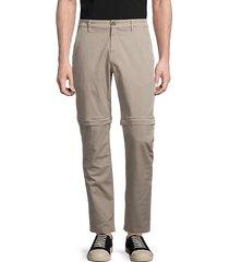 zip-off cotton pants