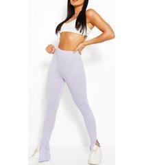 basic split hem jersey legging, lilac