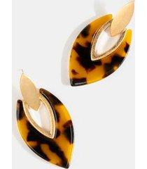 ari tort doorknocker drop earrings - tortoise