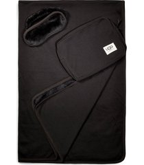 ugg duffield eye mask, pouch & blanket travel set, size one size - black