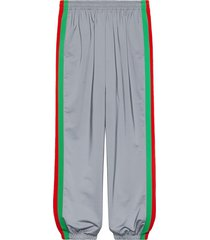 gucci reflective side stride track pants - silver