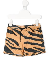 mini rodini tiger print swim shorts - brown