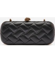 kurt geiger london women's kensington oval clutch - black