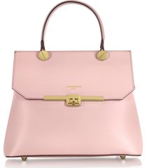 le parmentier designer handbags, atlanta candy pink leather top handle satchel bag w/shoulder strap
