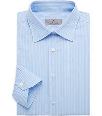 canali men's modern-fit striped shirt - light blue - size 40 (15.75)