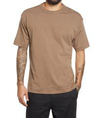 men's bp. solid crewneck t-shirt, size medium - brown
