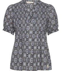 soul of sunshine blouse blouses short-sleeved blauw odd molly