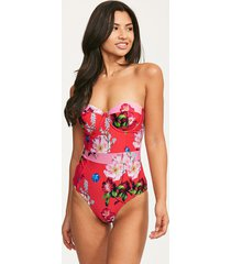 berry sundae tropical cupped one-piece swimsuit