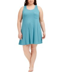 alfani plus size ultra-soft tank nightgown, created for macy's