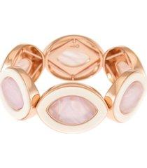 trifari rose gold-tone stretch bracelet