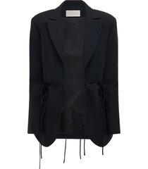 cutout blazer with ties