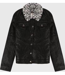 chaqueta negro-blanco levis