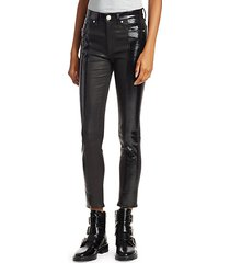 evelyn patent leather cropped pants