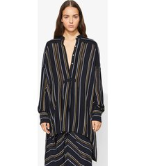 proenza schouler crepe striped shirt 00200 black 8