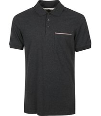 brunello cucinelli patched pocket polo shirt