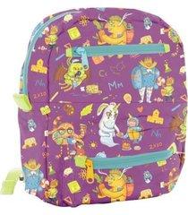 maleta mini cocora colegio morado