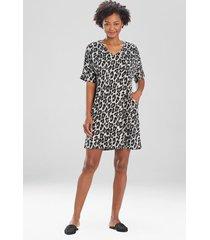 natori ombre leopard tunic caftan, luxury caftans for women, size xl