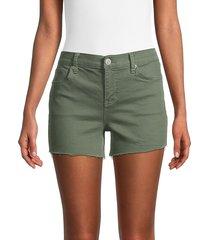 hudson women's gracie denim shorts - light olive - size 24 (0)