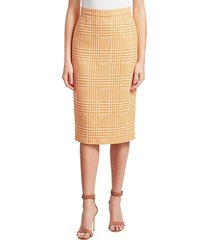 escada women's randuxi glen plaid pencil skirt - goa sun - size 32 (2)