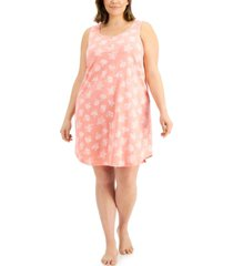 charter club plus size cotton sleeveless nightgown, created for macy's