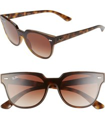 women's ray-ban blaze meteor 145mm gradient shield sunglasses -