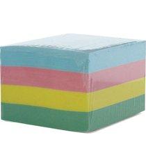 bloco de anotações tilibra cubo 5 cores com 600 folhas 92x82mm