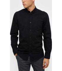 only & sons onsalvaro ls oxford shirt noos t-shirts & linnen svart