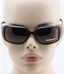 mens womens polarized lens wrap-around rectangular plastic frame sunglasses