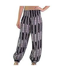 cotton harem pants, 'midnight in mixco' (guatemala)