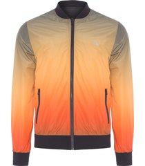 jaqueta masculina bomber dupla face - laranja