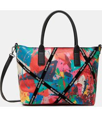 arty stains handbag - red - u