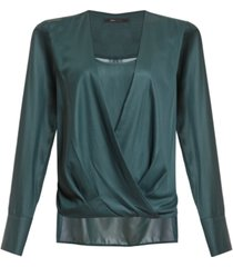 bcbgmaxazria faux-wrap blouse