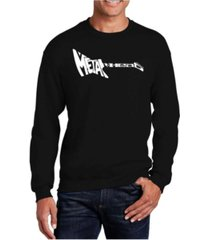 la pop art big & tall men's word art heavy metal crewneck sweatshirt