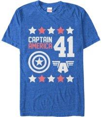 marvel men's comic collection captain america logo short sleeve t-shirt