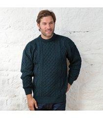 springweight new wool crew neck sweater dark green medium