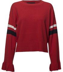 alvin ruffle sleeve stickad tröja röd designers, remix