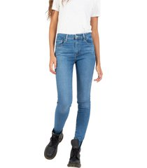 high rise skinny denim jeans
