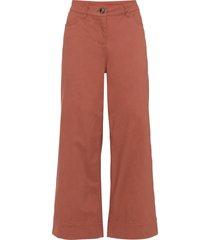 pantaloni elasticizzati cropped a gamba larga (marrone) - bodyflirt