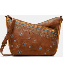 boho crossbody bag - brown - u