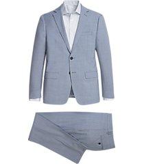 calvin klein light blue skinny fit suit