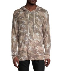 zadig & voltaire men's camo-print cashmere hoodie - galet - size m