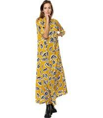 vestido amarillo yurine maxielka