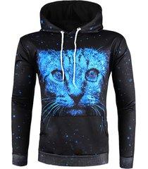 3d animal print pullover drawstring hoodie